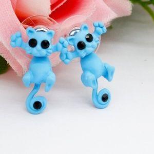 Adorable 3D Kitty Fashion Earrings
